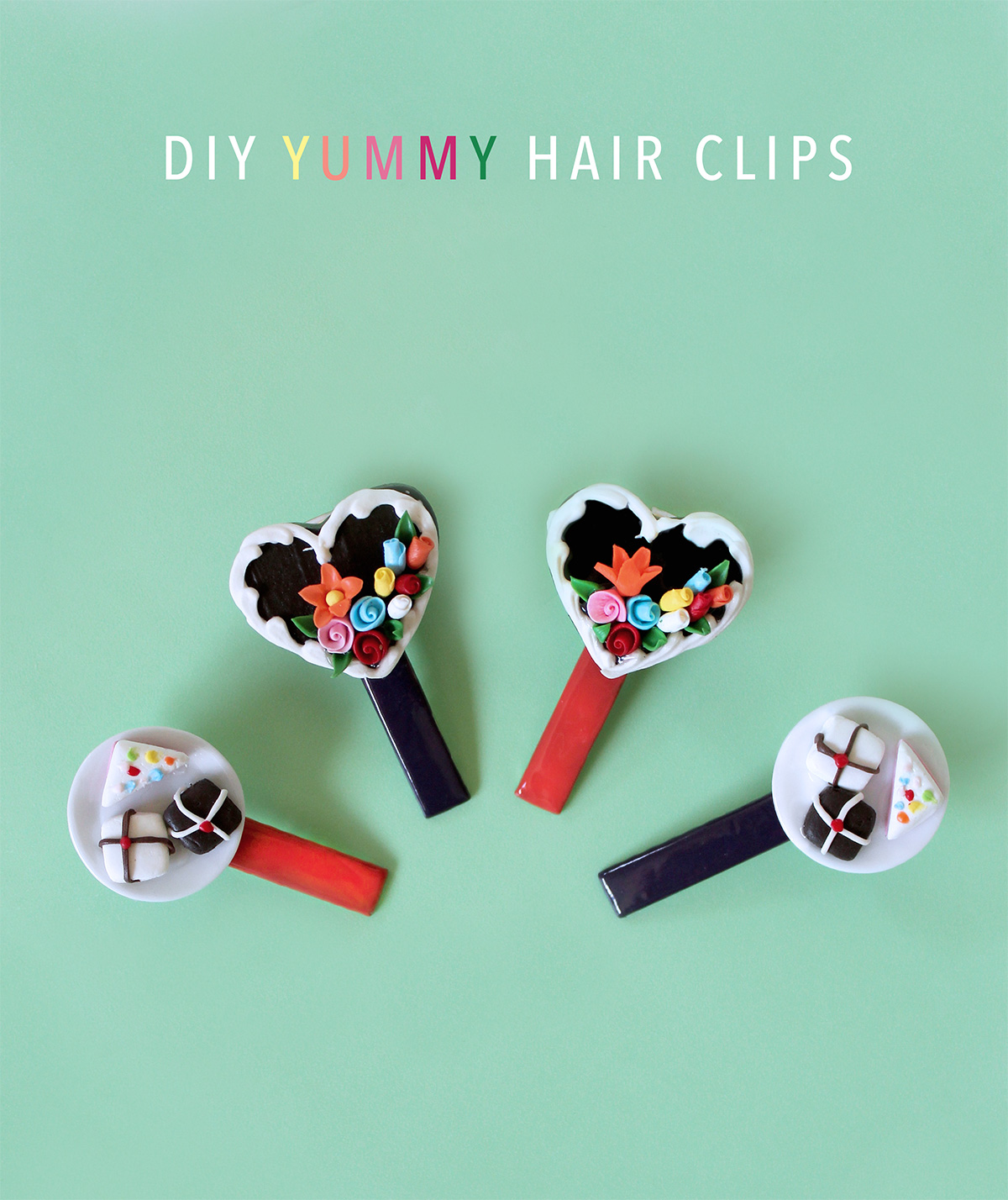 DIY Yummy Hairclips Tutorial kraft&mint