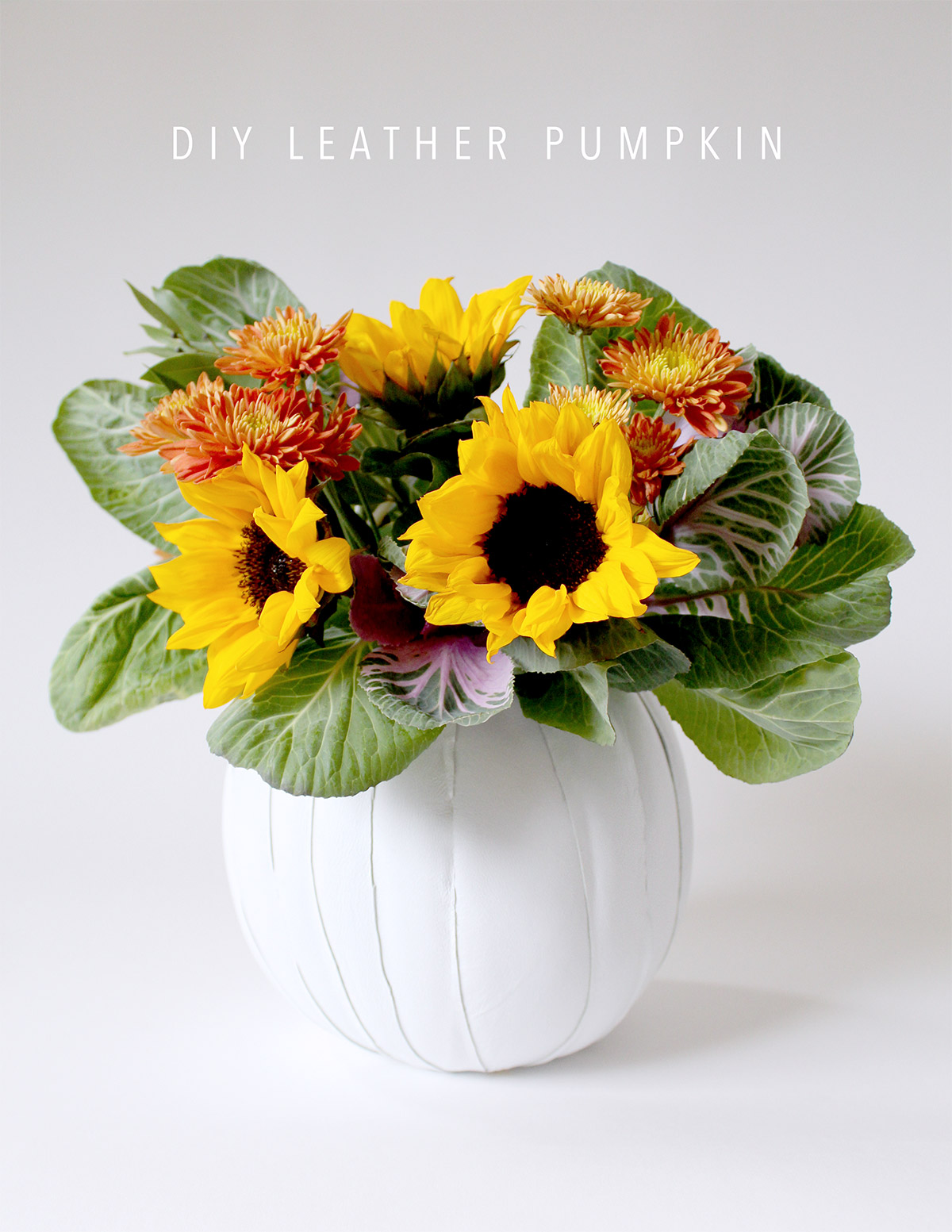 Leather Pumpkin DIY