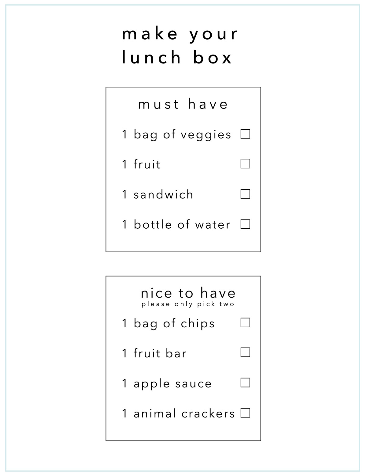 Get organized: Make your lunch printable