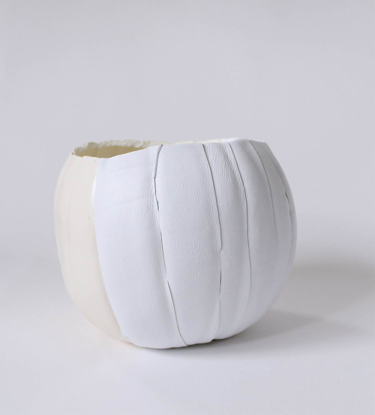 Make a leather pumpkin this Fall