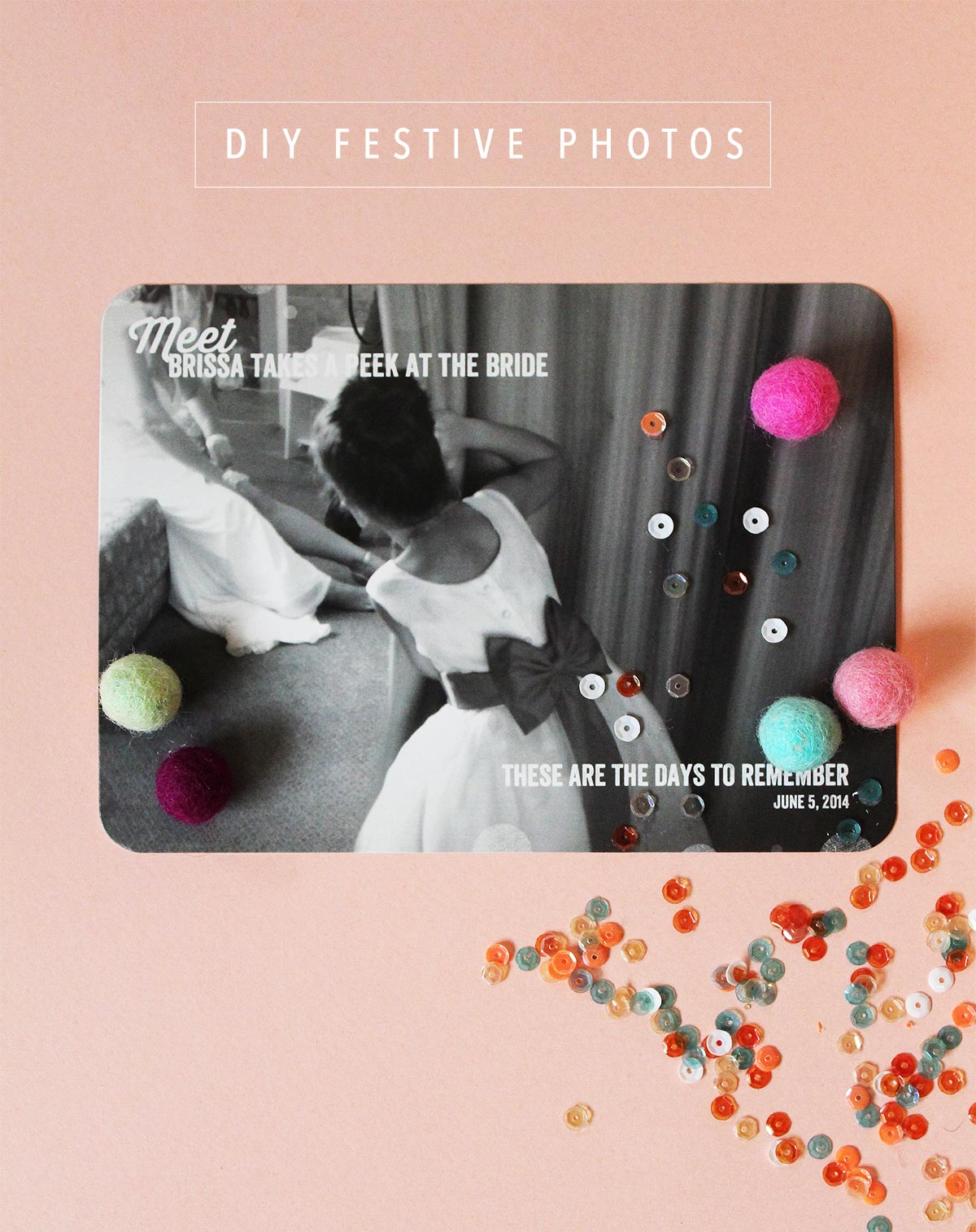 Transform your photos into festive decor