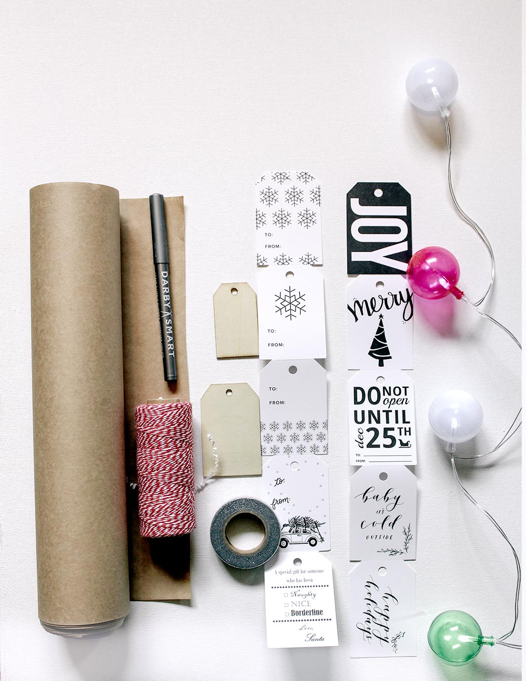 Darby Smart Gift Wrap Kit and Gap collaboration