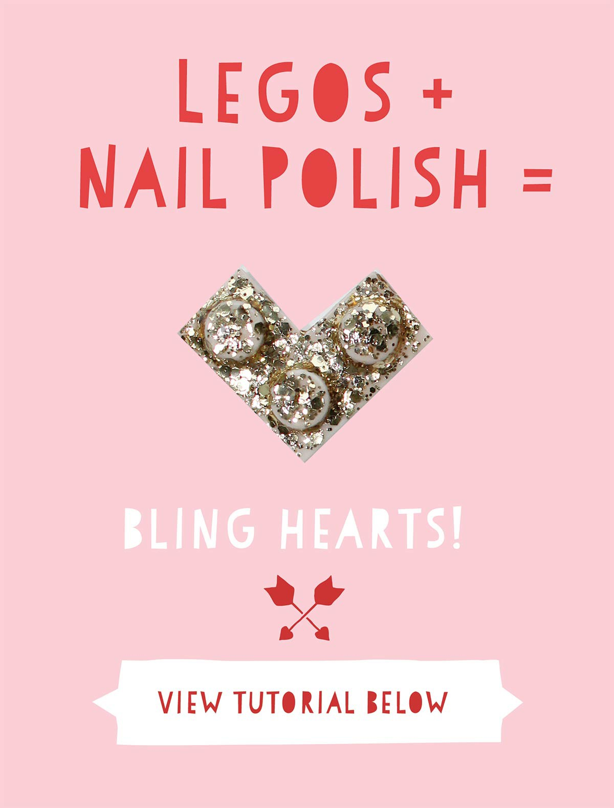 DIY Lego Valentine's Day Bling Hearts and Printable Labels – Part 1