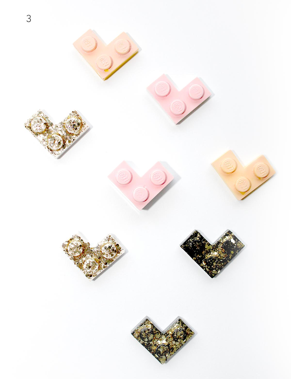 DIY Lego Valentine's Day Bling Hearts and Printables Labels