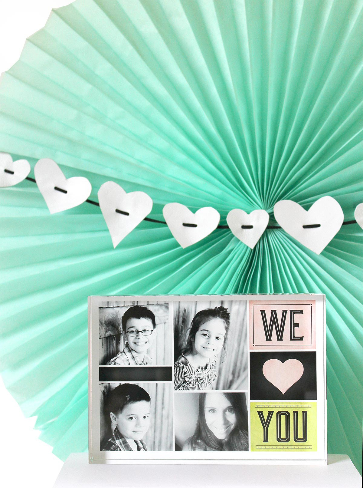 Valentines Day Vignette - Hearts Garland DIY