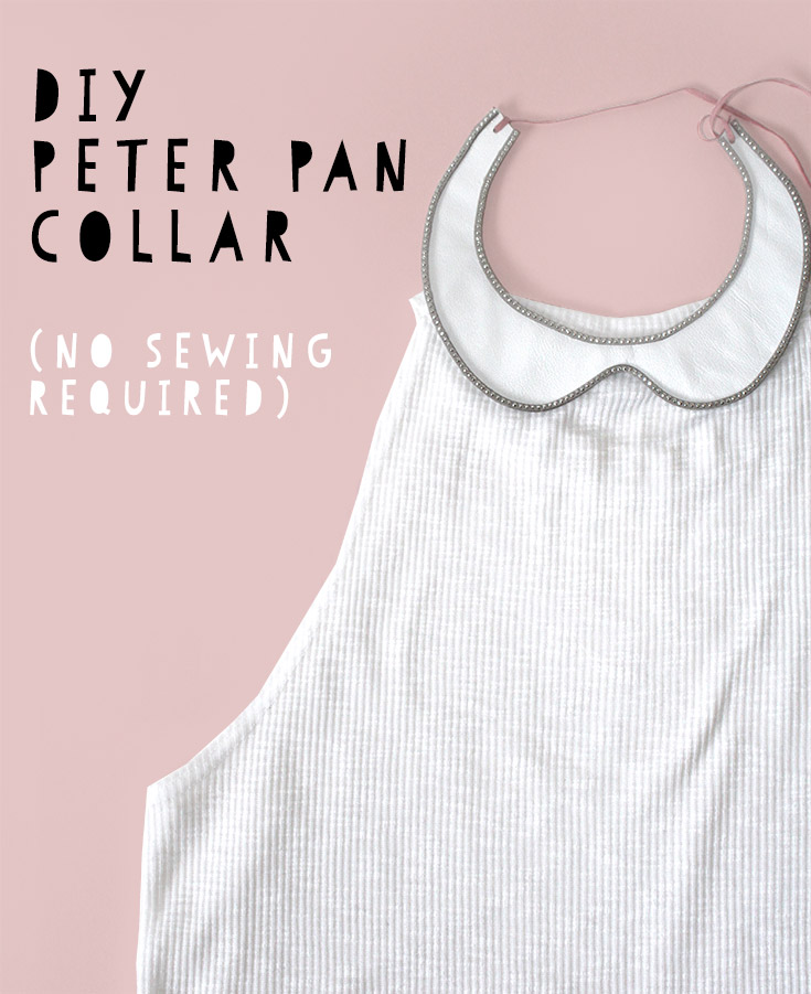 Little bored of your clothes? Try this new DIY accessory - detachable peter pan collar, NO sewing required