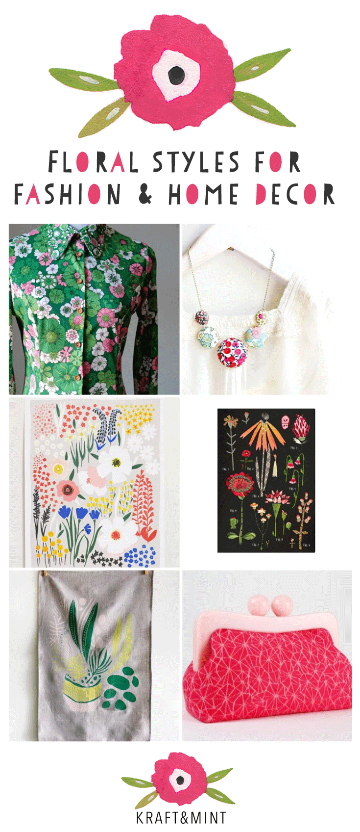 FLORAL STYLES from independent designers - Friday finds kraft&mint