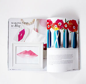 kraft&mint featured in Artful Blogging Magazine