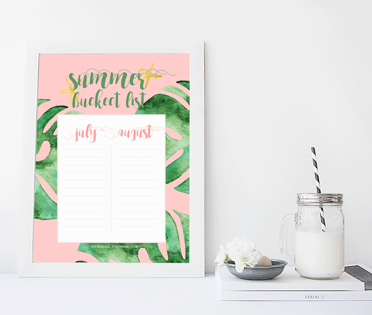 What inspires you? Tropical trends + Summer Bucket List Printable
