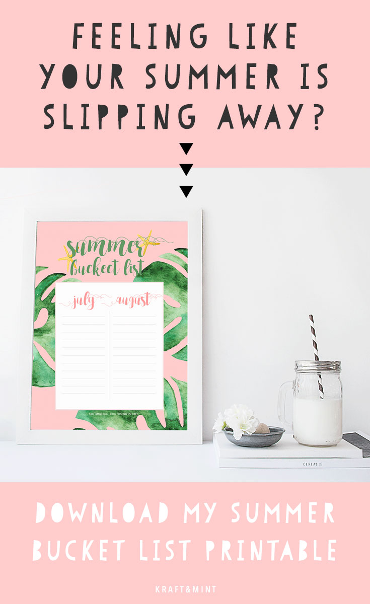 What inspires you? Tropical trends + Summer Bucket List Printable kraft&mint
