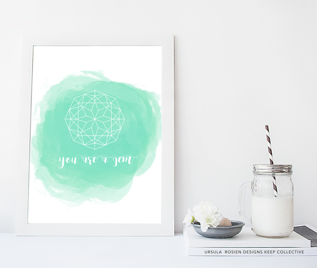 Sundays Sales - You are a gem - kraft&mint printable designs