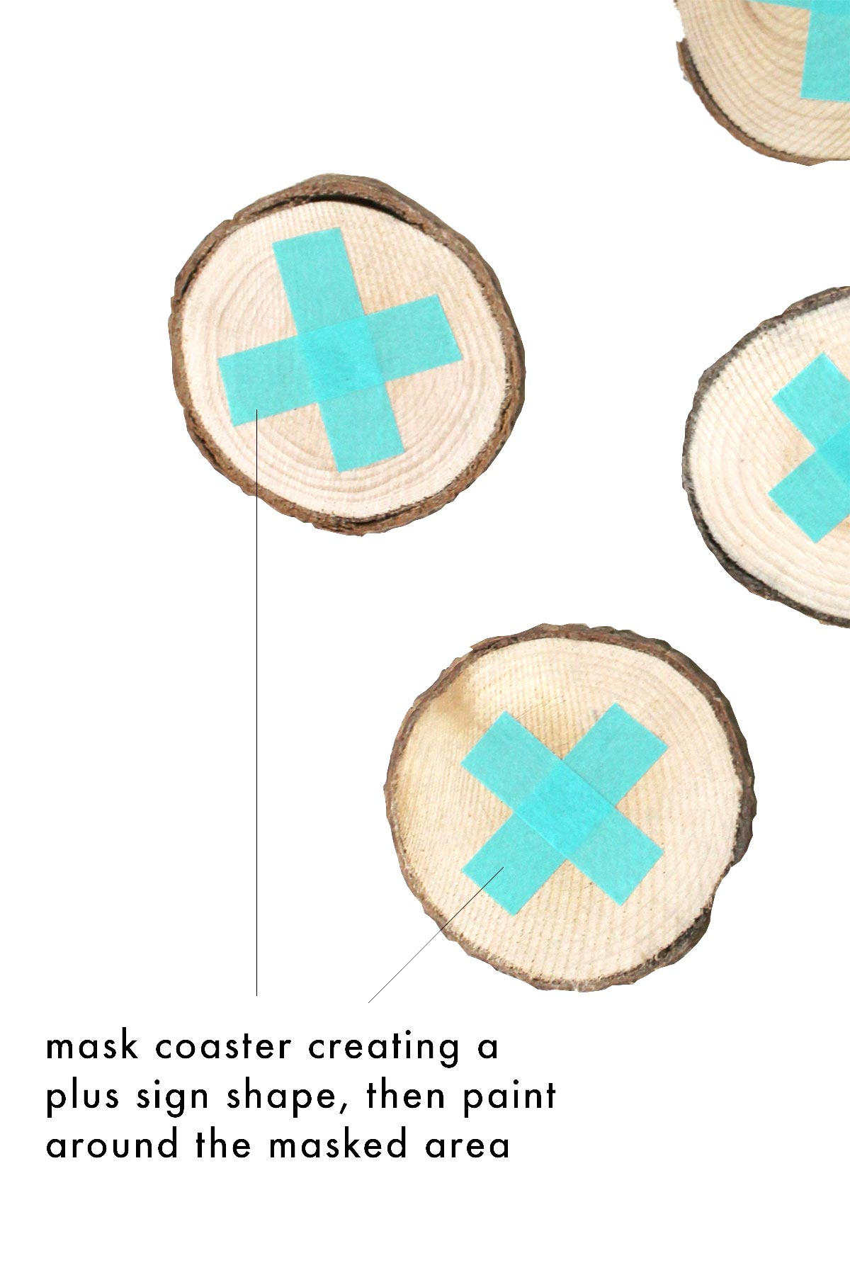 DIY Wood Coasters you will be happy to display! And you can write on them too - kraft&mint #diy