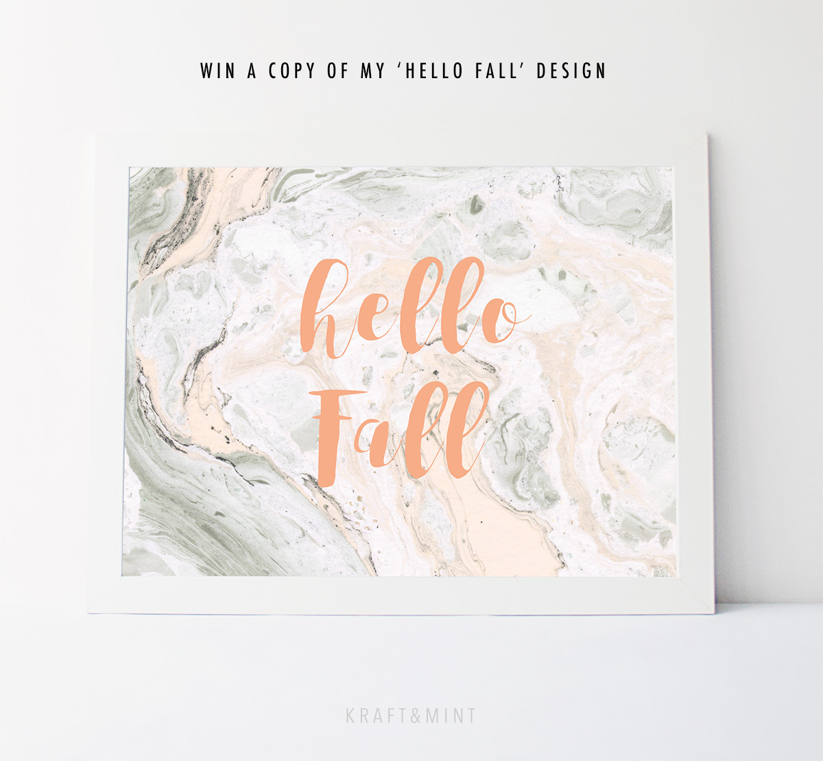 Giveaway! Hello Fall! Printable Home Decor by kraft&mint