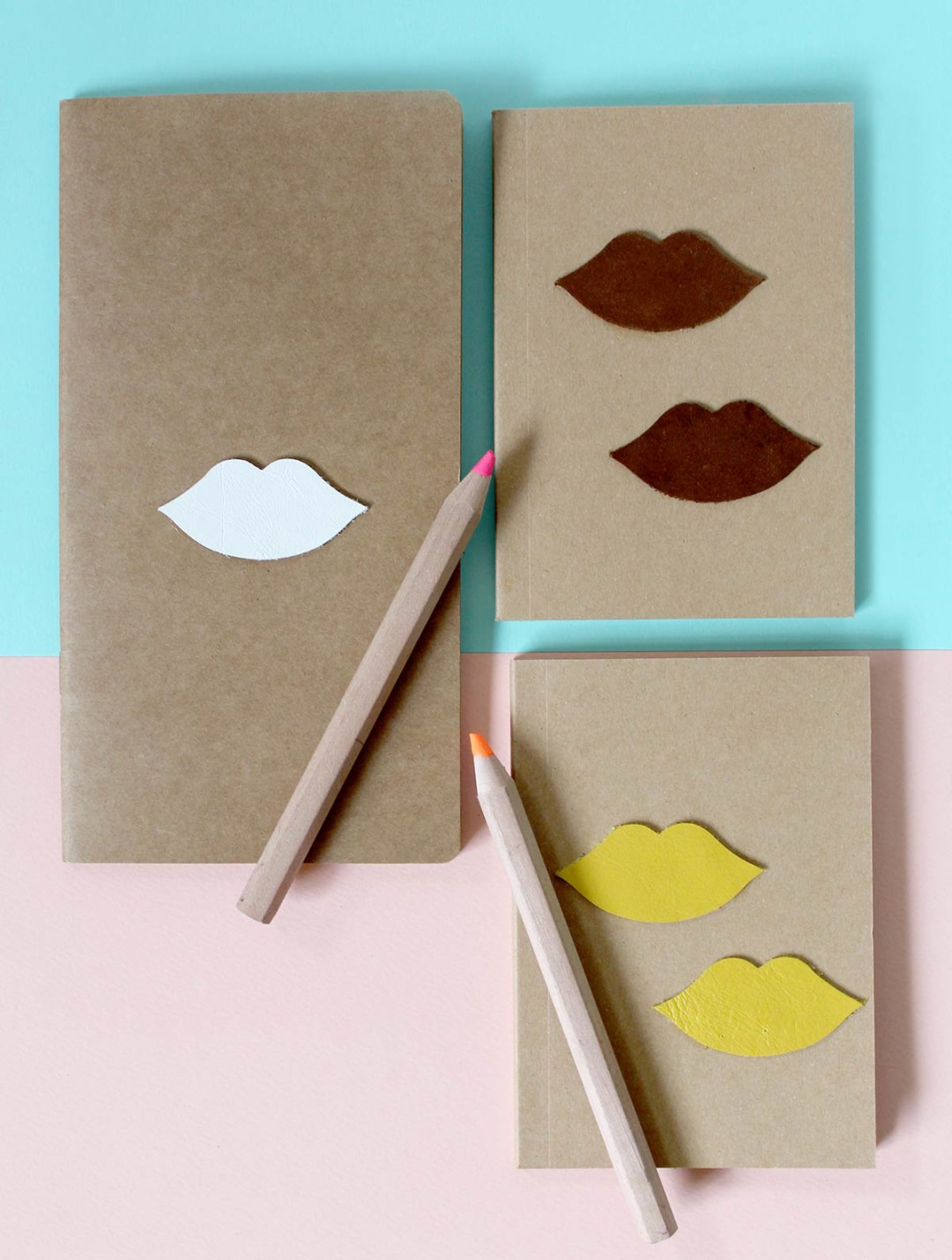 Making is like therapy - Leather notebooks with leather flair kraft&mint