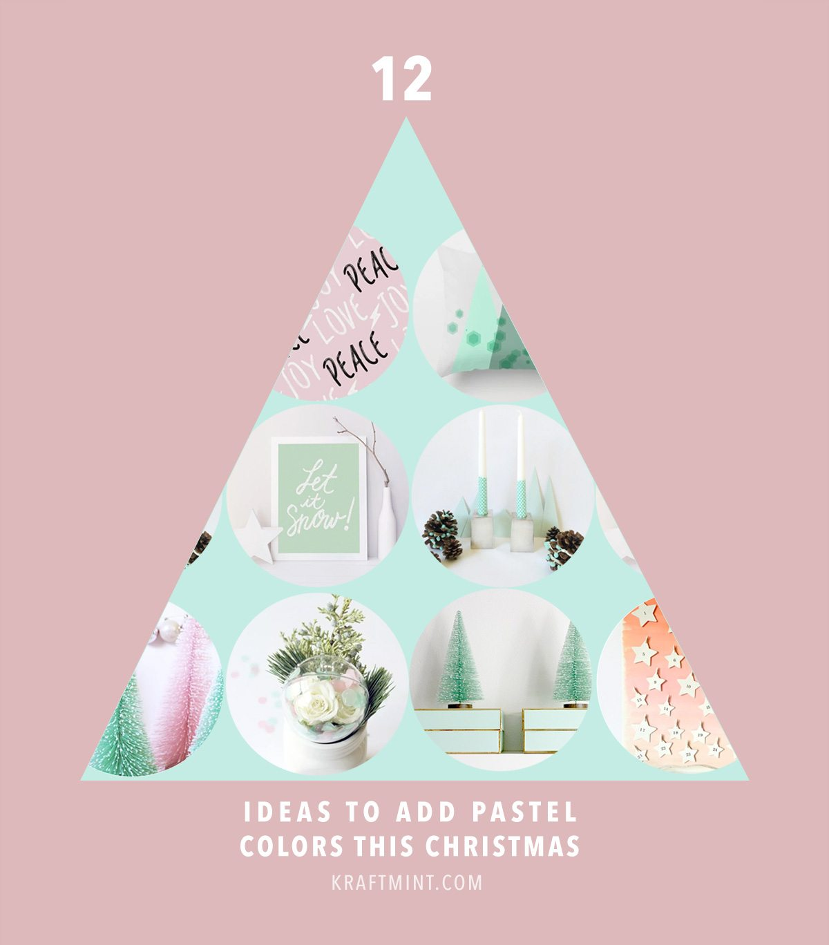 12 Ideas to decorate with pastels colors this Christmas
