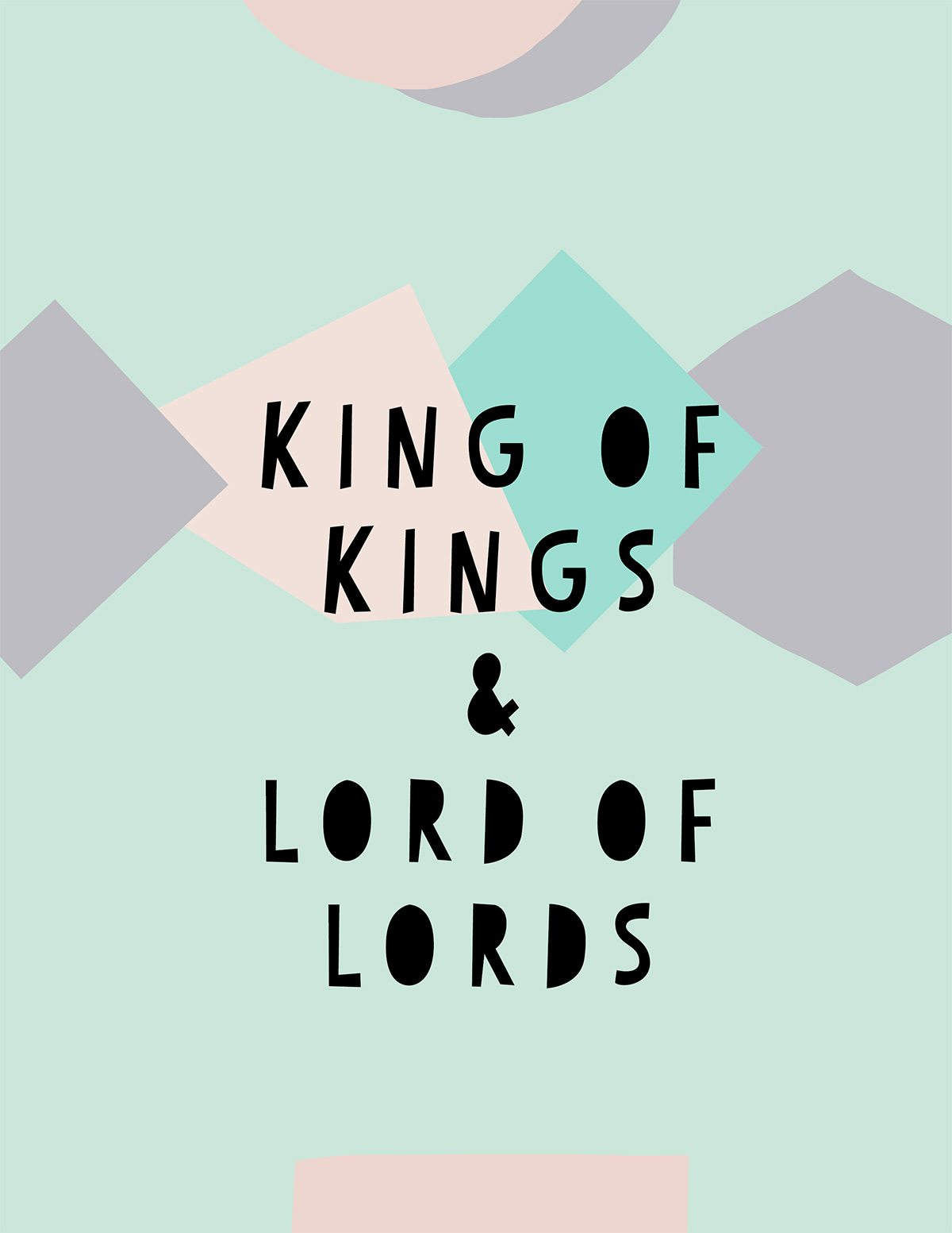 king of kings artwork for Christmas kraft&mint blog