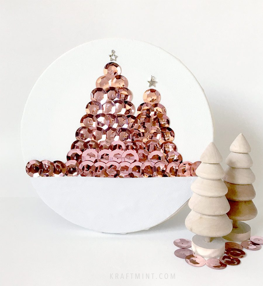 DIY Christmas Trees Artwork