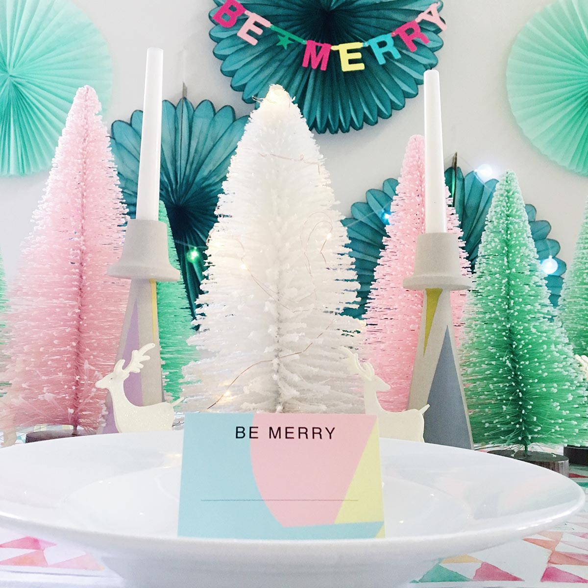 My Christmas table and printable place cards