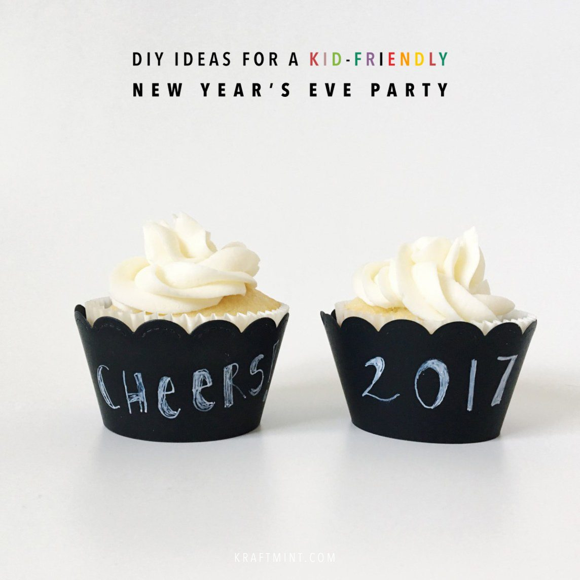 DIY ideas to host a kid friendly New Year's eve party