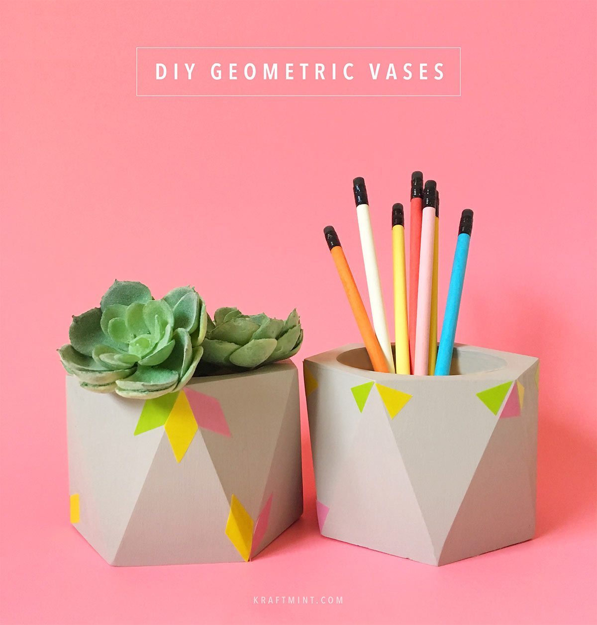 DIY Geometric Vases