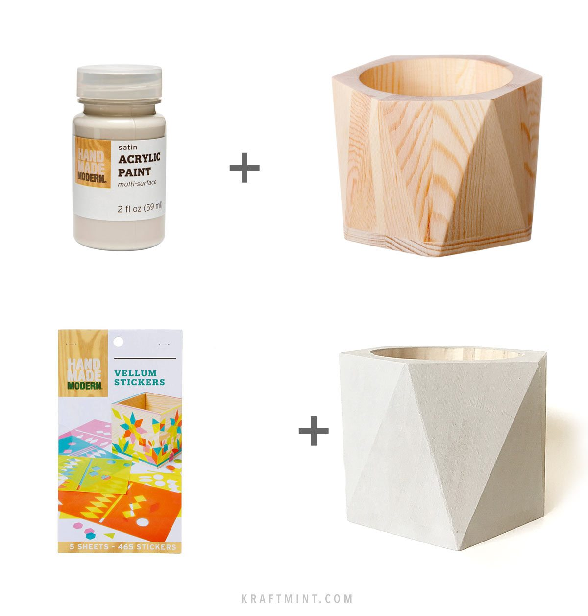 DIY Geometric Vases Tutorial