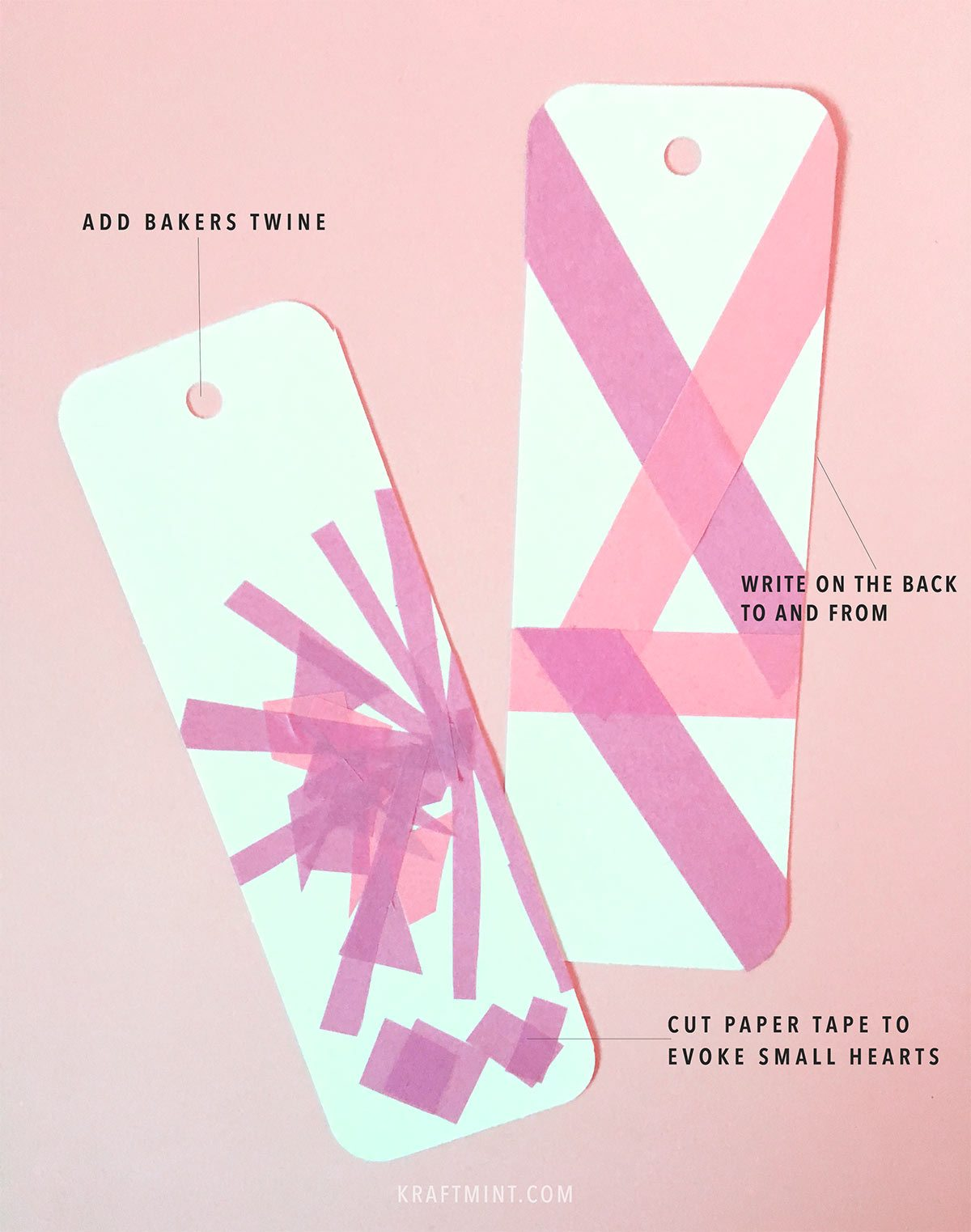DIY Modern Valentine's Day Bookmarks