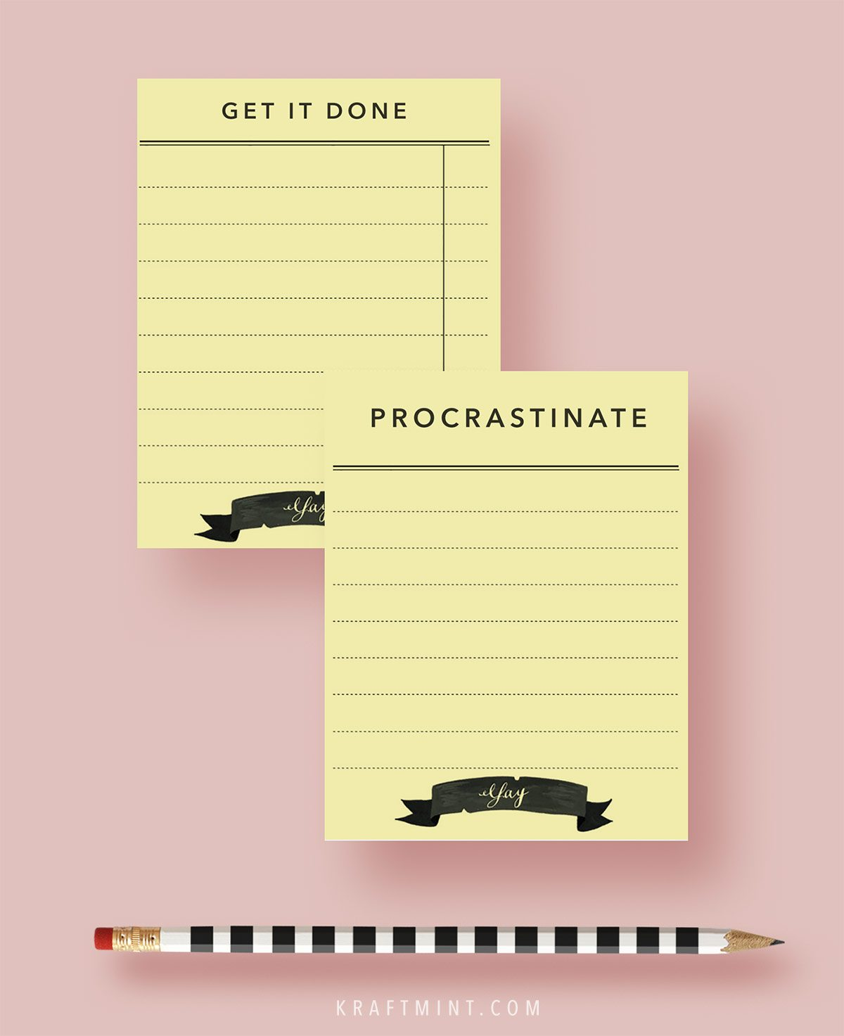 Get it done or procrastinate printable cards