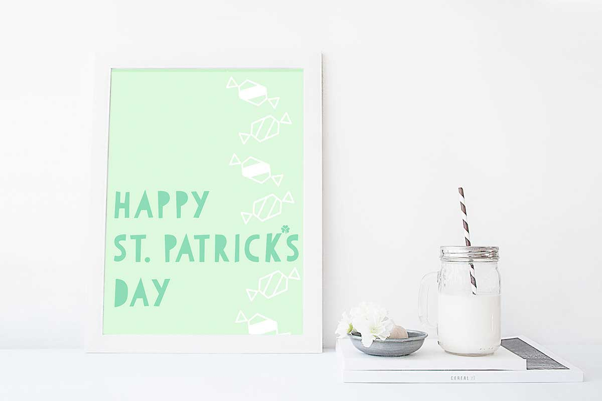 Add this modern printable to your St. Patrick's day decor