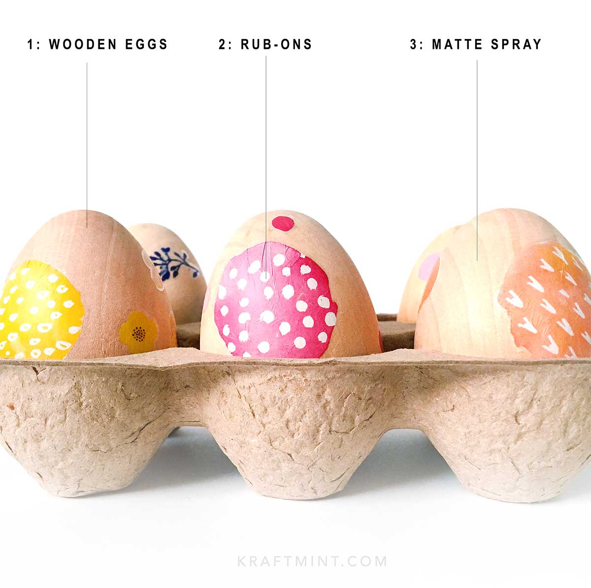 DIY modern easy Easter eggs