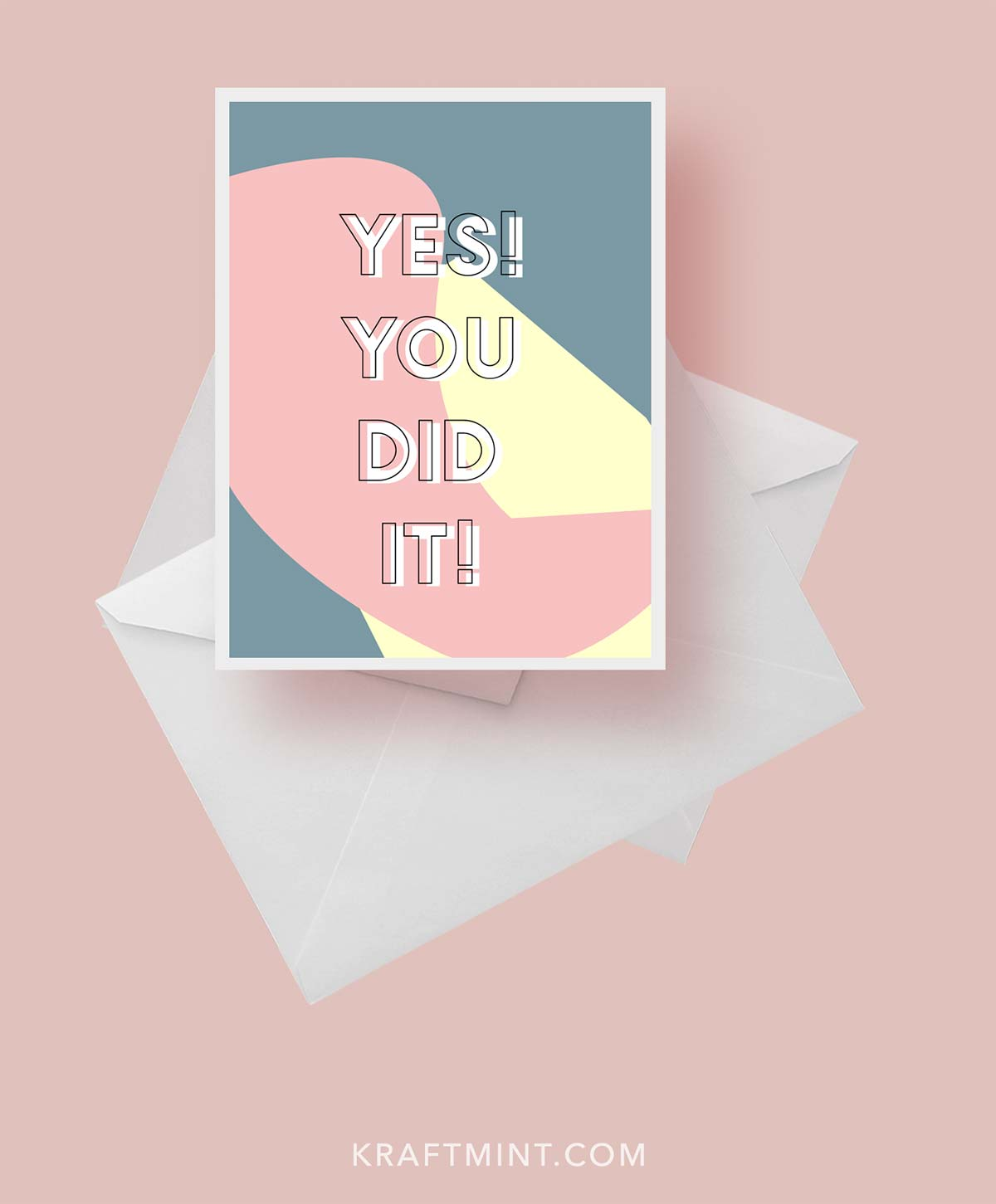 A Greeting Card Daily Download - Awesome freebie kraft&mint