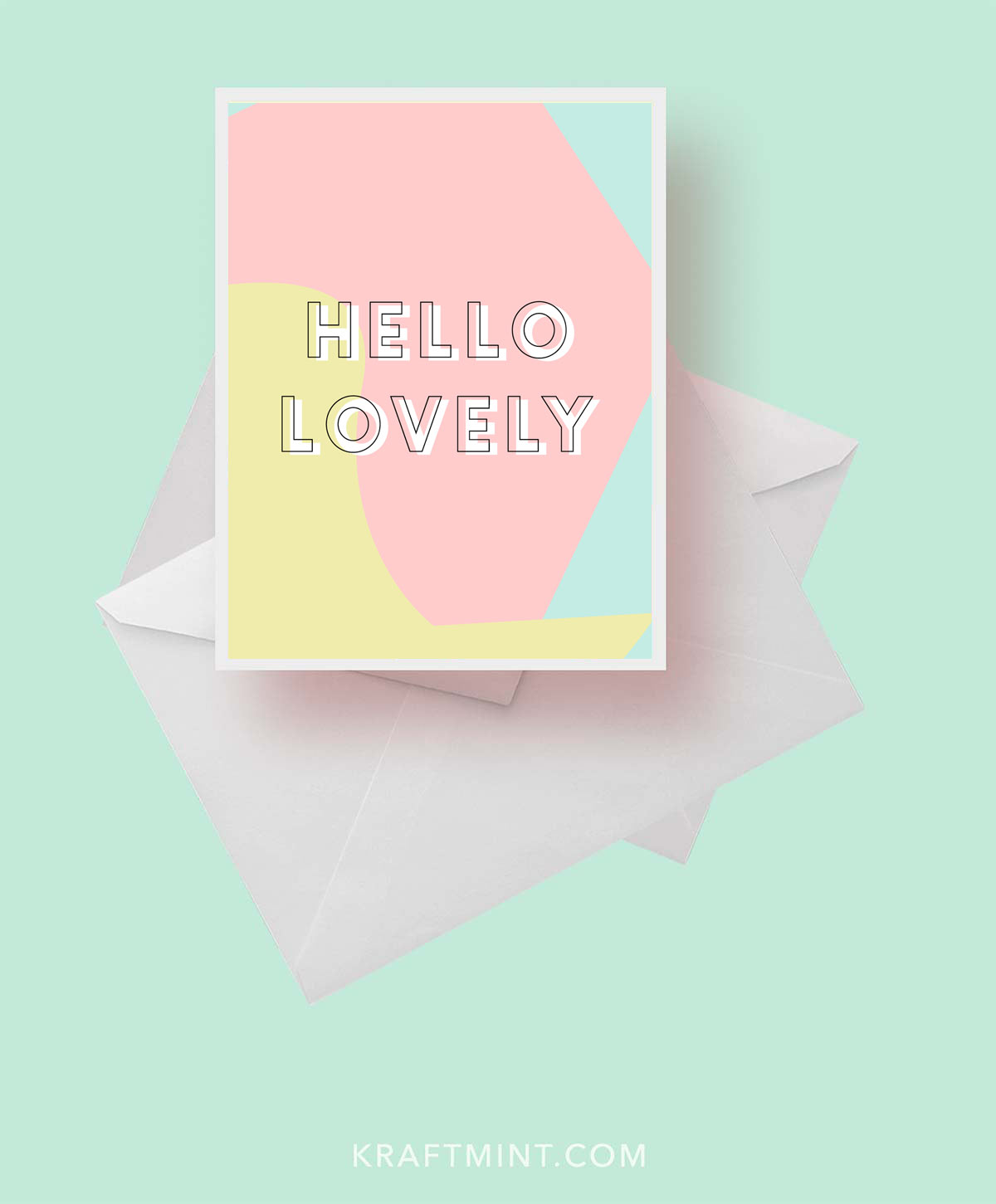 """Daily Greeting Card Project Day 21 """"Hello Lovely"""""""