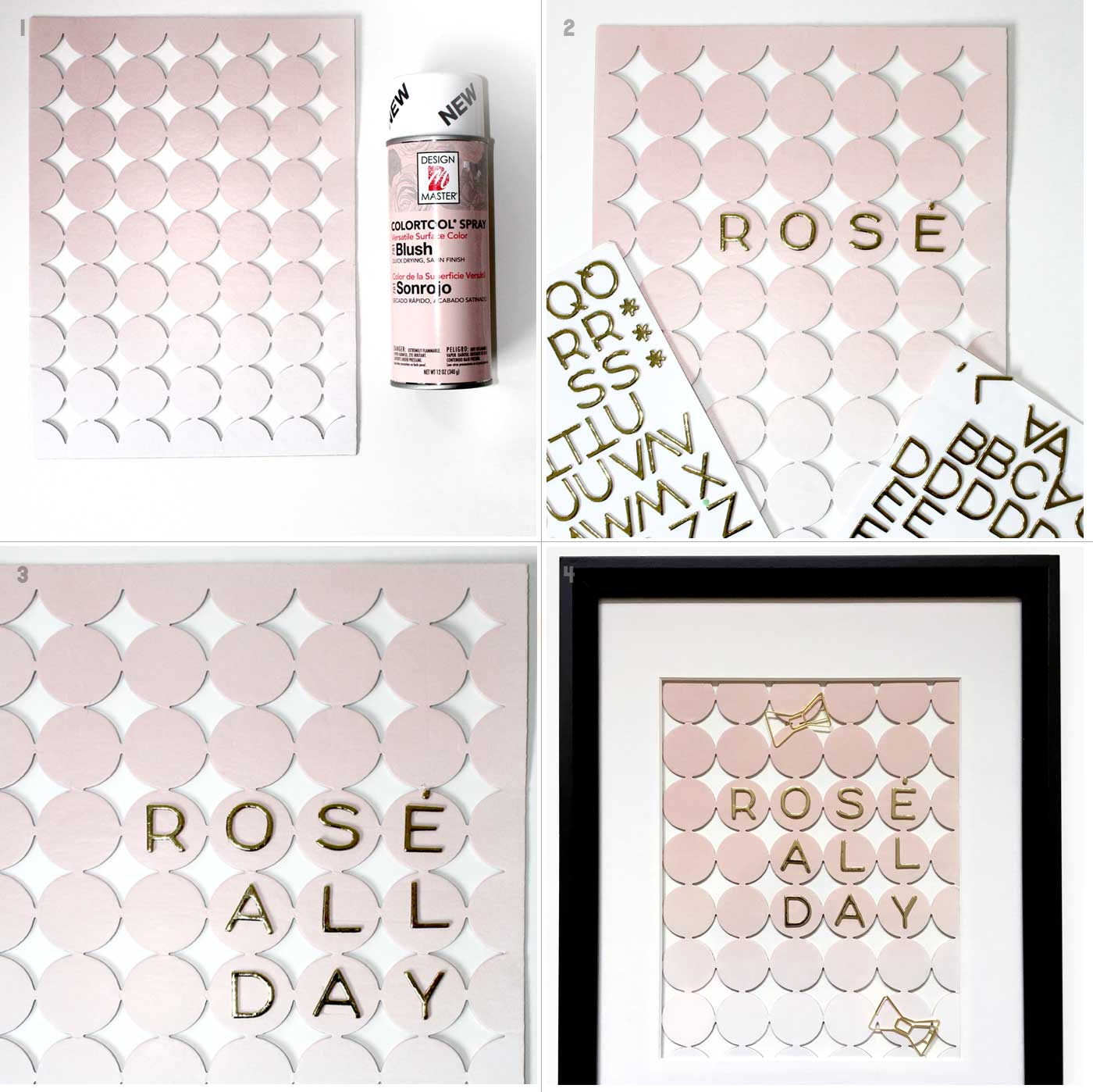 Rose all day artwork diy kraft&mint blog