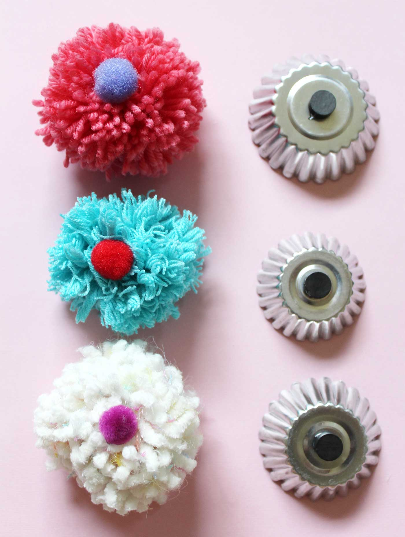 DIY Cupcake Magnets kraft&mint blog