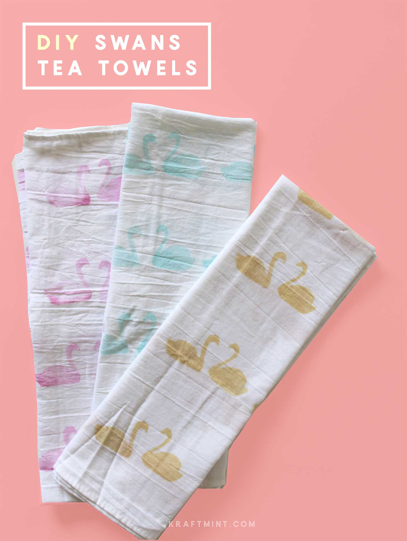 DIY Swens tea towels