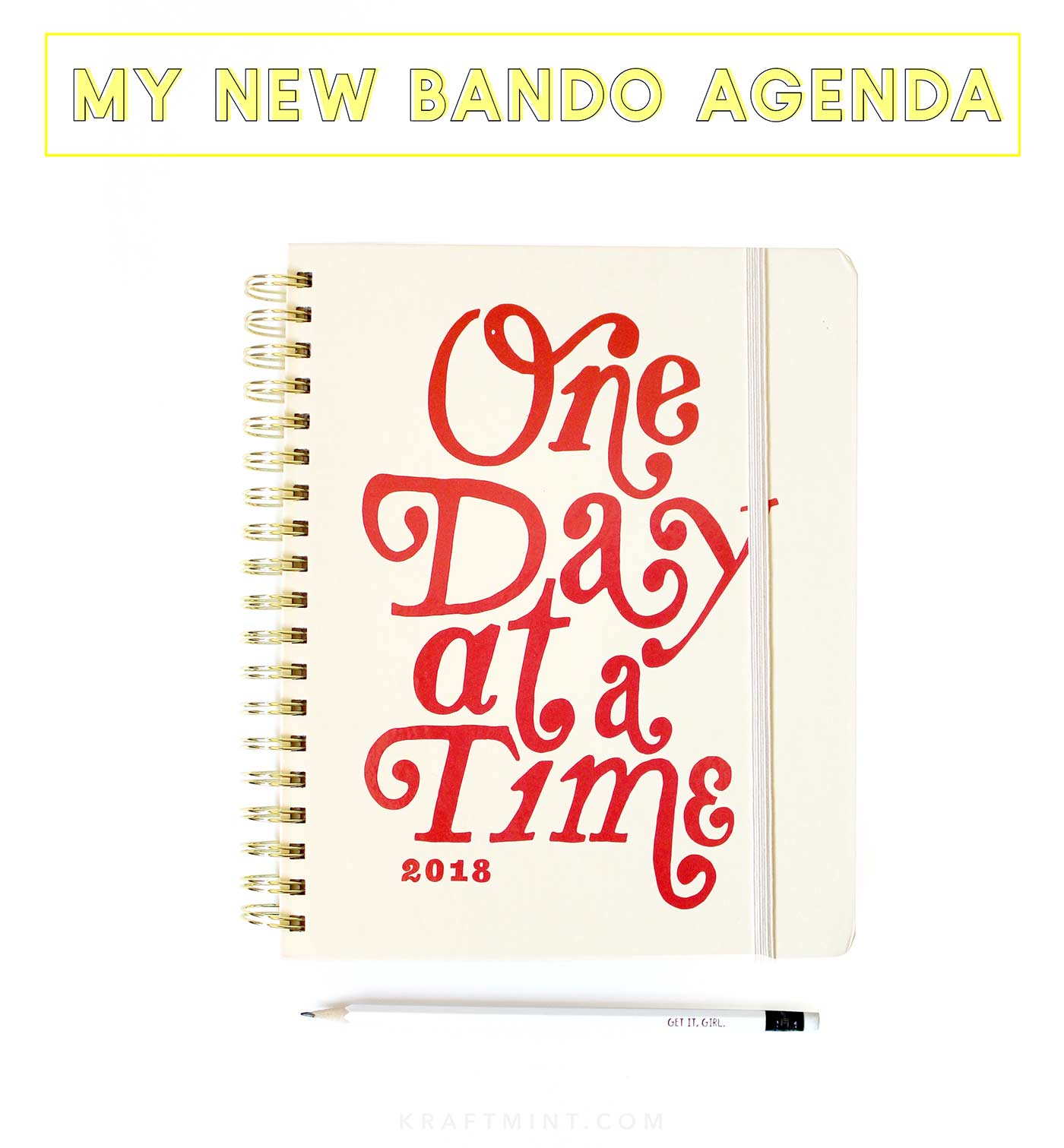 Loving my new bando agenda - kraft&mint blog