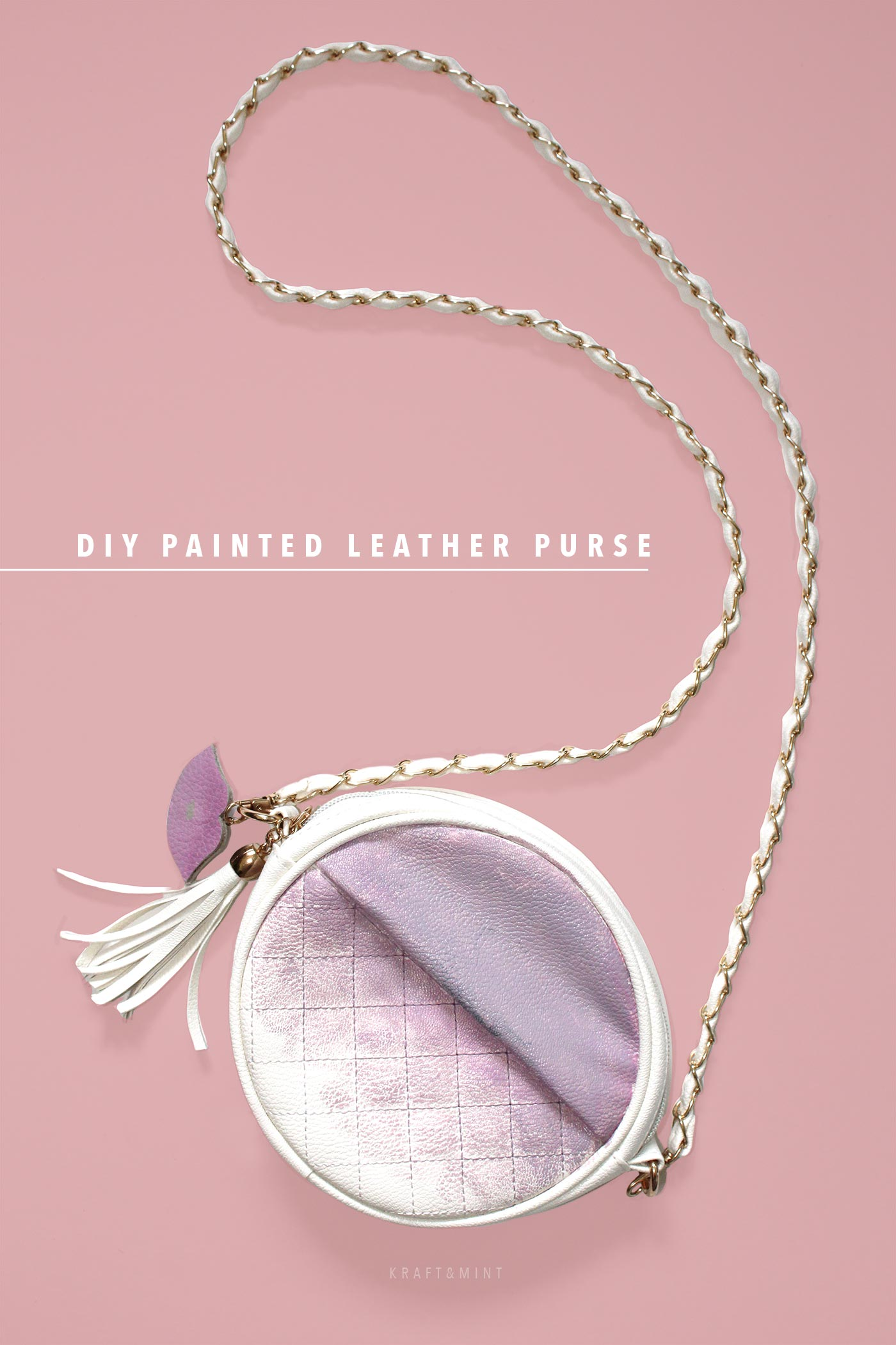 DIY Painted Leather Purse kraft&mint blog