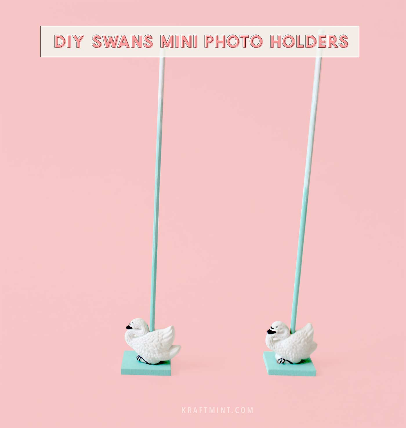 DIY Swans mini photo holders - kraft&mint blog