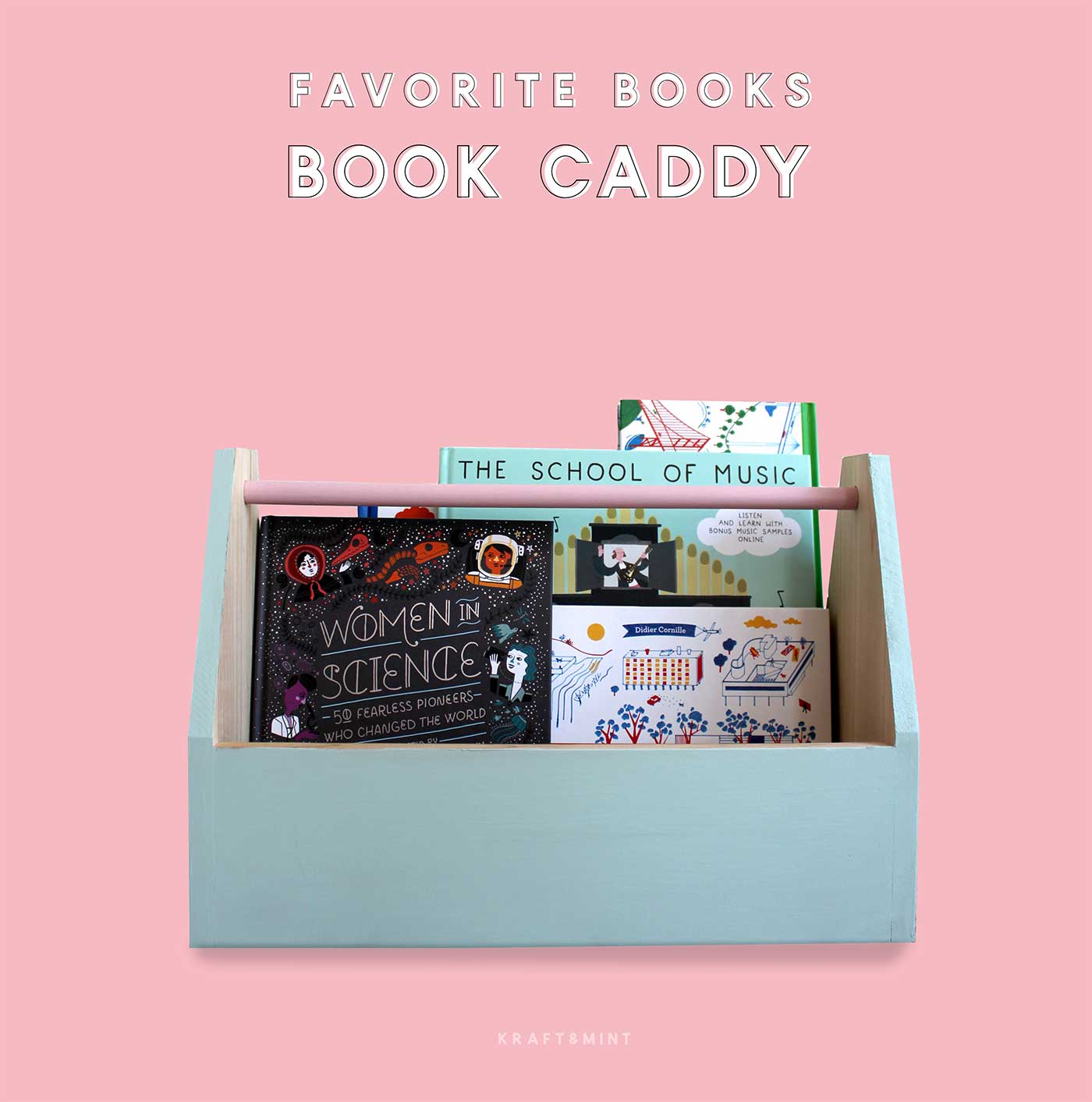 Favorite Books Book Caddy DIY