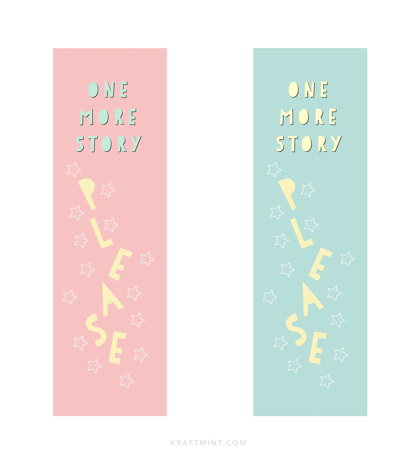 Printable paper bookmarks