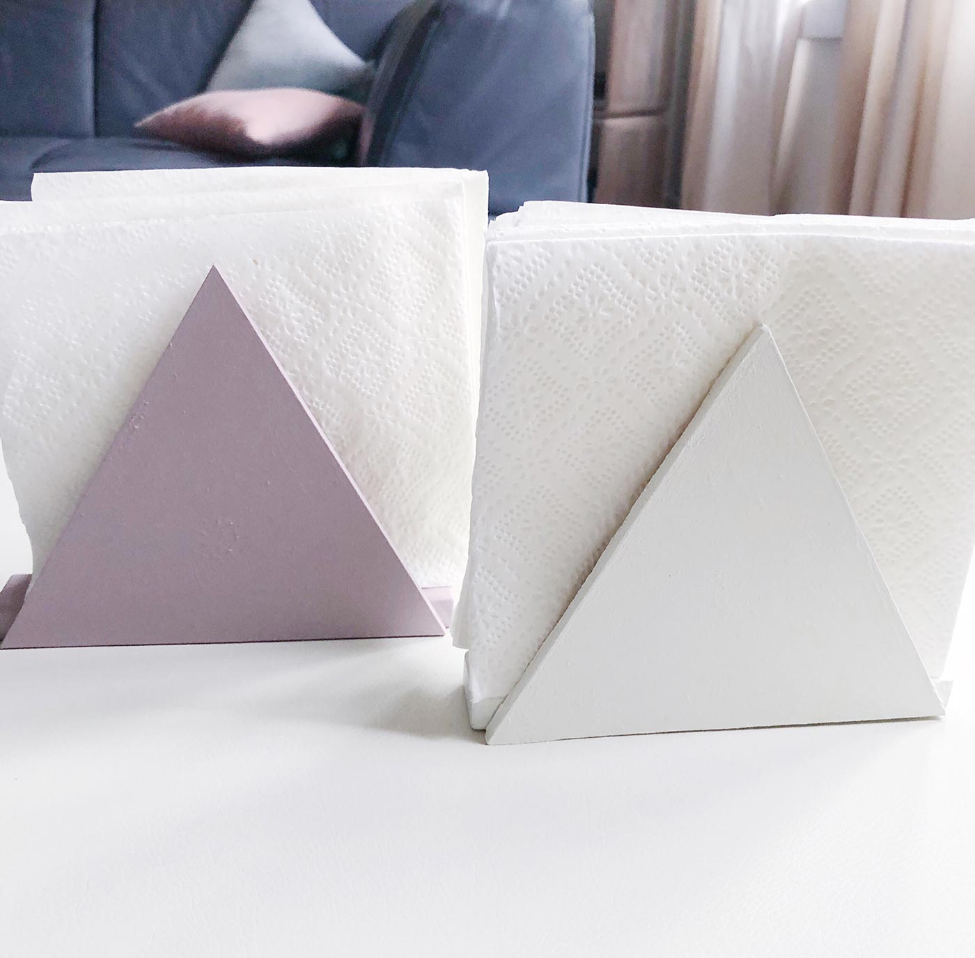 DIY Napkin holder kraft&mint blog