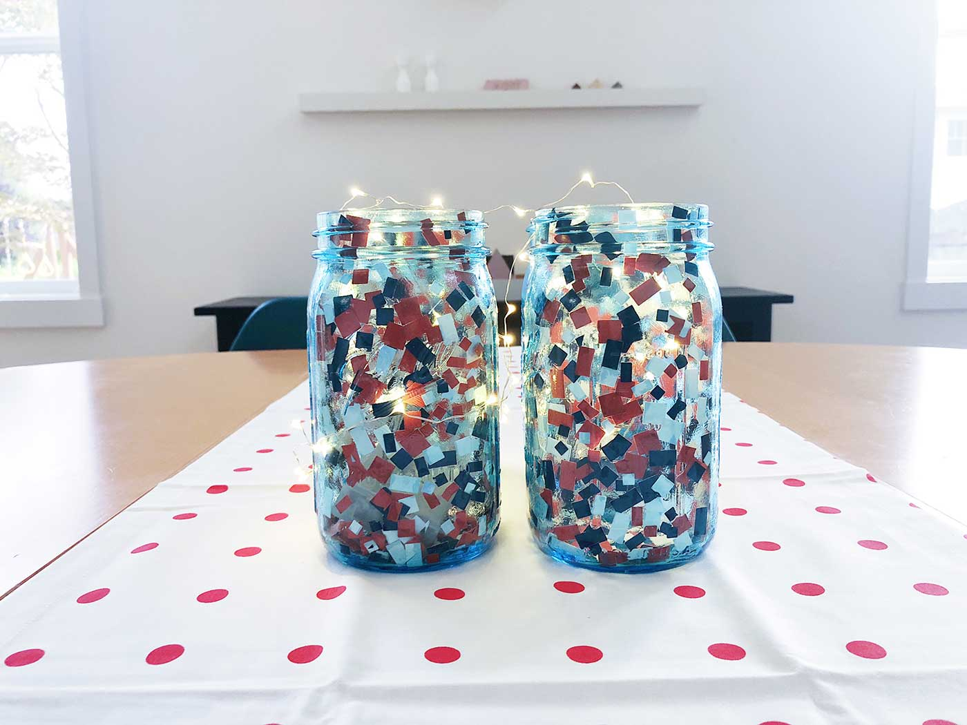 DIY Fireworks Centerpiece