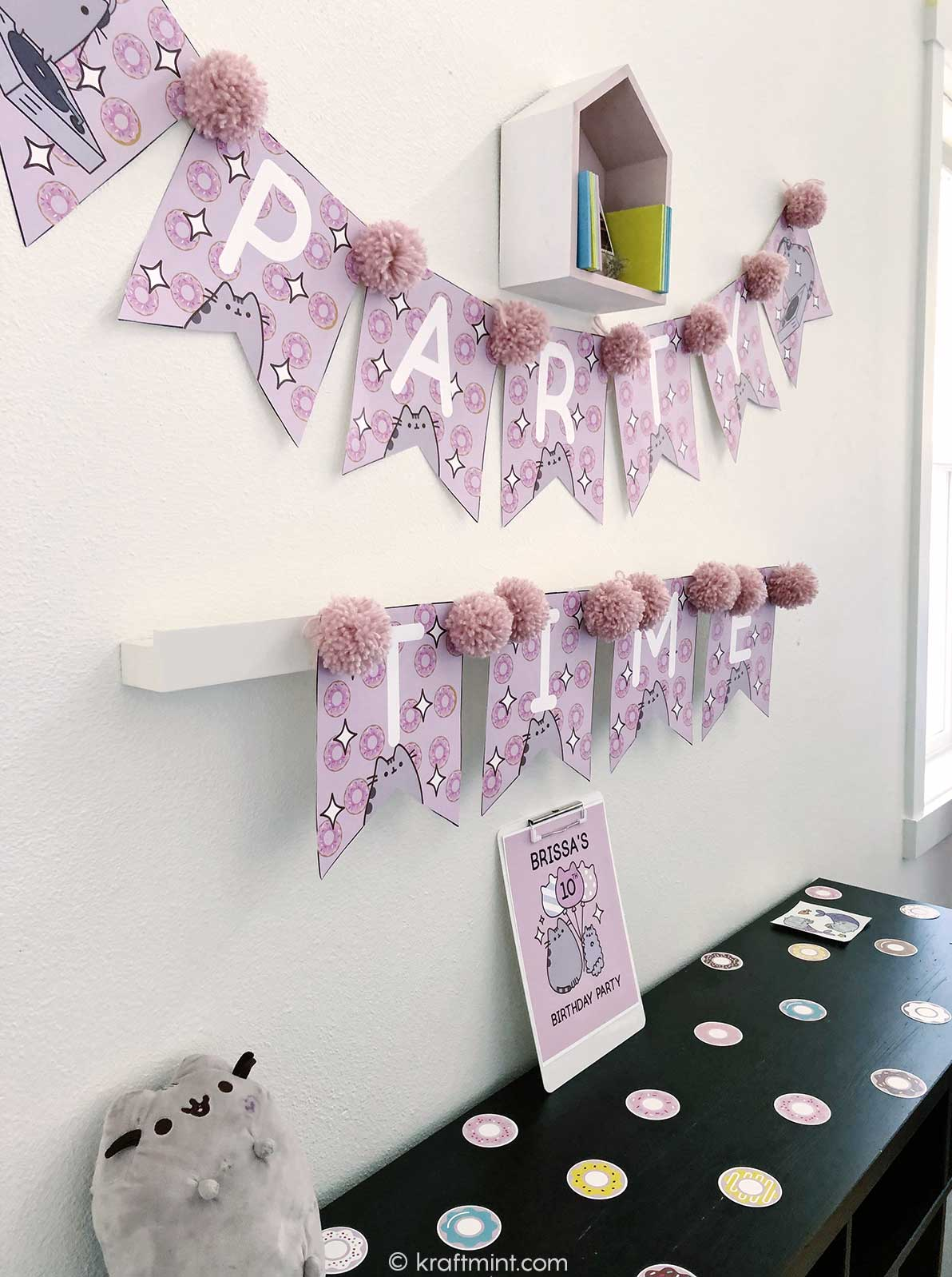 Pusheen the cat birthday party